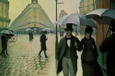 Calle de Paris, día lluvioso (Efecto de Lluvia) deGustave Caillebotte