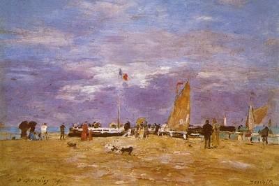 Muelle en Deauvillede Eugene Boudin