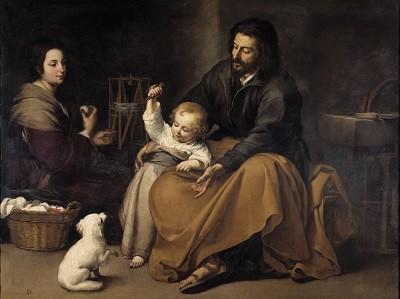 Sagrada Familia del pajarito Murillo