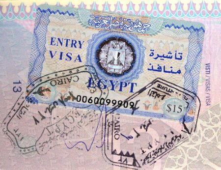 visado a Egipto